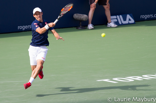 Kei Nishikori at the 2016 Roger's Cup