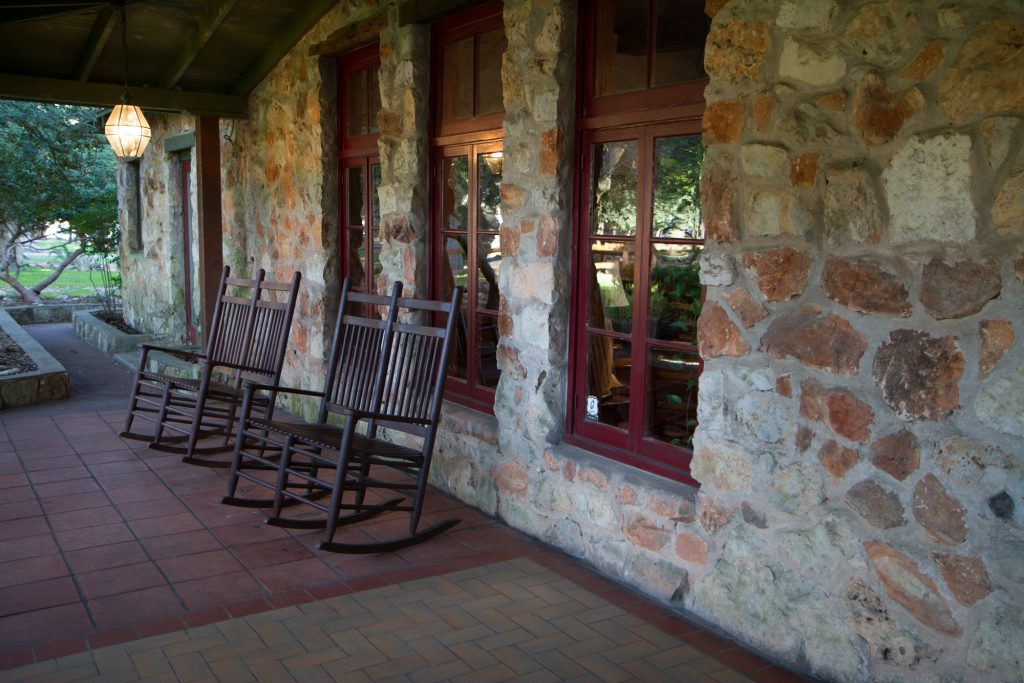 Main lodge at the John Newcombe Tennis Ranch